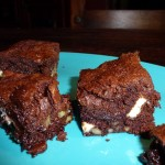 Brownies med chili - færdig kage