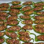 Fyldte ovngrillede chili - kødfyld 1