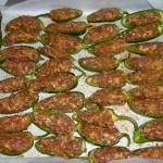 Fyldte ovngrillede chili - kødfyld 2