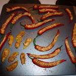 Fyldte ovngrillede chili - ostefyld 2