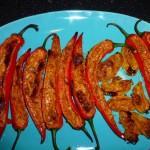Fyldte ovngrillede chili - ostefyld 3