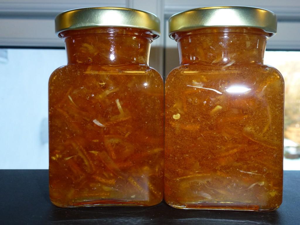 Bergamottemarmelade med chili og Cointreau