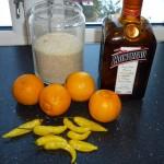Bergamottemarmelade med chili og Cointreau - ingredienser
