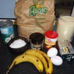 Amerikanske pandekager med kokosmælk og banan - ingredienser