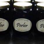 Balsamicosyltede perleløg med chili - men etiketter
