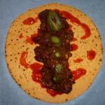 Chili con carne - klar til at blive rullet og komme en tur i ovnen