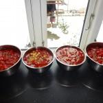 Chilisauce - sauces afkøles lidt før blendning