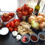 Tomatchutney med chili og ingefær - ingredienser