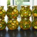 Chilisyltede agurker - Habanero og koriander