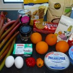 Rhubarb-orange-chili-cheesecake - ingredients