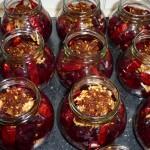 Syltede rødbeder med chili og nelliker - andet lag fyld
