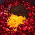 Tranebærsylt med chili og lakrids - klar til kogning
