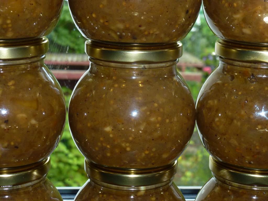 Mangochutney med chili - på glas