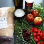 Porchetta med chili og andet fyld - ingredienser