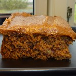 Banana cake with chili and thick caramel topping - et godt stykke