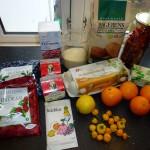 Appelsinlagkage med bær og chili - ingredienser