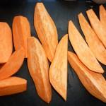 Vegedeller med chili, søde kartofler, selleri og kartofler - søde kartofler