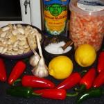 Butterbean-lemon cream and crayfish in garlic oil - Ingredients
