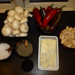 Mushrooms, butter beans and gorgonzola - Ingredients