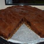 Amarena-chokomousse kage med chili - den færdige kage 2