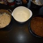 Vegansk ris a la mande kage med ingefær og chili - der er gjort klar til at blande