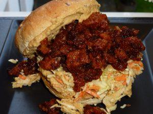 Fooled Pårk - burger klar til servering
