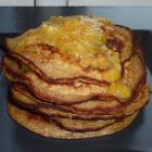Amerikanske pandekager med kokosmælk og banan